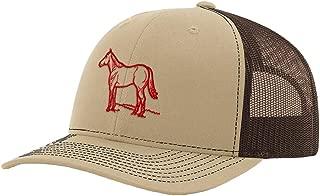 Custom Richardson Trucker Hat Quarter Horse Outline Embroidery Design Polyester