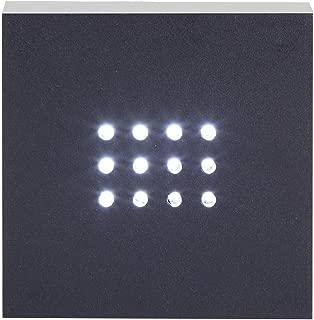 LED White Light Stand Base, 12 LED Rectangular Crystal Merchandise Display Base for Crystals, Glass Art