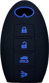 غطاء مفتاح Fob من السيليكون بدون مفتاح للدخول متوافق مع هاتف Infiniti EX35 FX50 G35 G37 M45 QX56 FX50 M35 M56 QX60 QX80 JX...