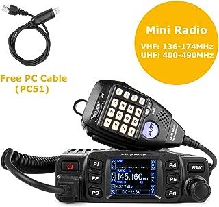 AnyTone AT-778UV Mobile Radio Dual Band VHF/UHF Car Radio 25W Amateur Two Way Radio w/Cable