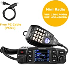 AnyTone AT-778UV Mobile Radio Dual Band VHF/UHF Car Radio 25W Amateur Two Way Radio w/Cable