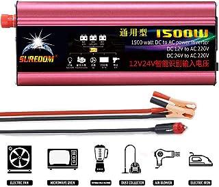 GBHJJ 1 500 W växelriktare, modifierad Sinus-likströmsväxelriktare med 12 V/24 V till växelström 220 V, med USB-laddningsp...