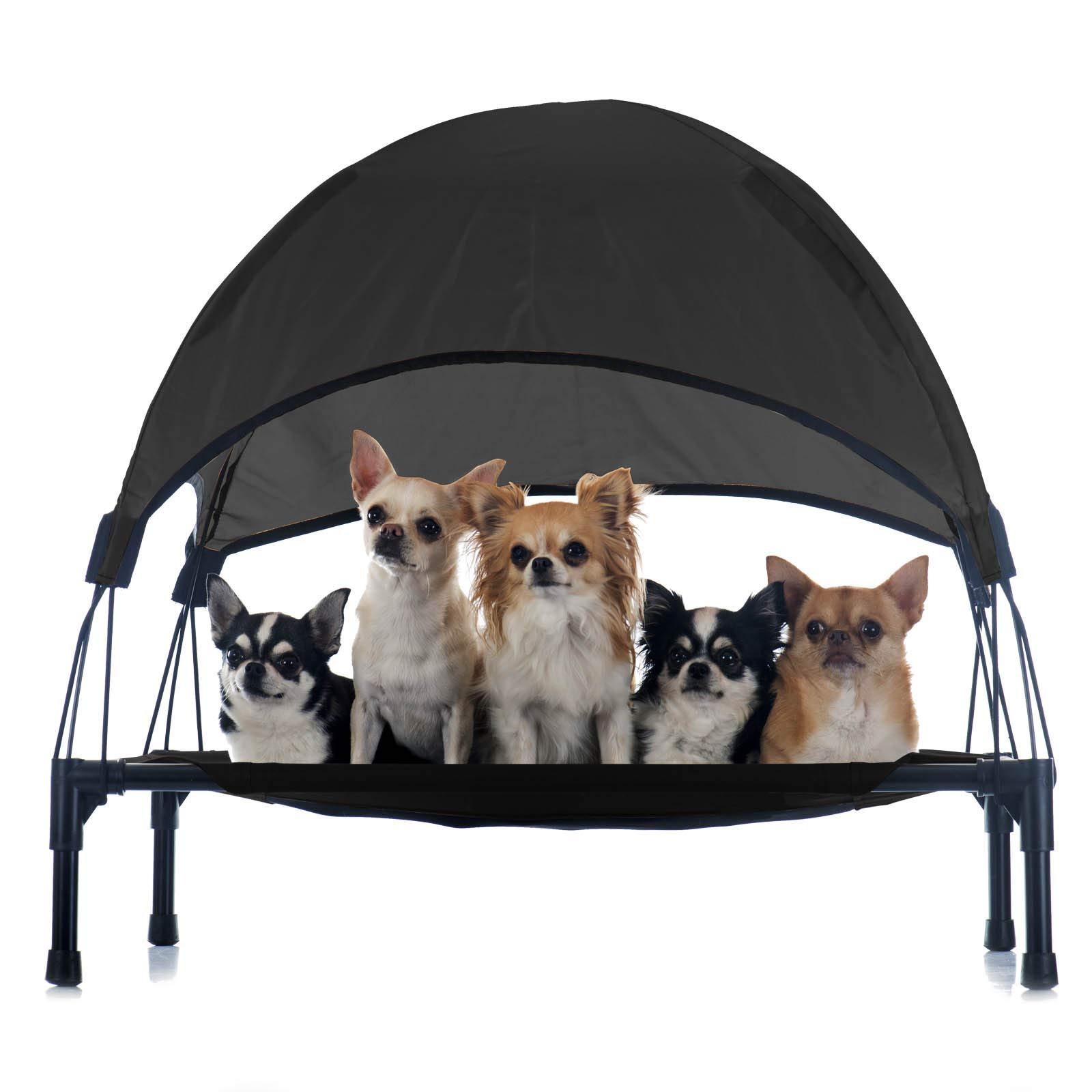 Hamaca mascotas Cama Perros Gatos Relax Jardín Outdoor Protección solar Sombrilla Animales S Negro: Amazon.es: Productos para mascotas
