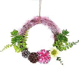 270CM Pink Shuda K/ünstliche Tannengirlande Weihnachtsgirlande Gr/ün 2.7M Dekogirlande mit Weihnachtskugeln und Blumen Kamine Treppen Size 25