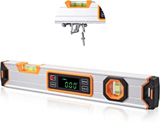 CAMWAY Magnetic Digital Spirit Level,Torpedo Level 16Inch Digital Level Gauge,LED Waterproof Magnetic Digital Level,Indica...