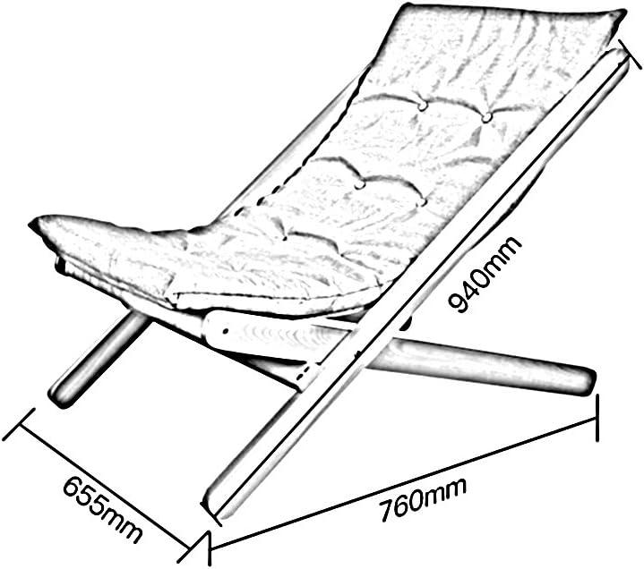NYDZDM Chaise de Loisirs Fauteuil inclinable en Bois Massif Chaise paresseuse Chaise Pliante Tabouret Chaise de Sieste (Color : B) C