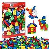 iNeego Bloques de Construcción 1000 Piezas Bloques de Construcción Infantil 3D Juegos de Construcción Ladrillos de...