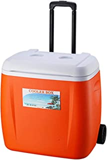 28L/30 L Cool Box With Wheels Drawbar PU Food Incubator Refrigerated Fresh-keeping Cold Storage Container Large Ice Bucke...
