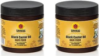 Tropic Isle Living Jamaican Black Castor Oil Hair Food 4oz (Pack of 2)