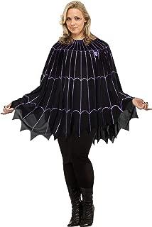 Spider Web Poncho Plus Size Costume Black/Purple