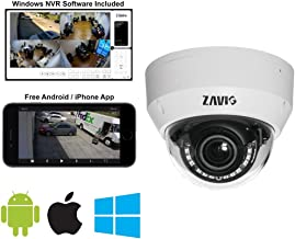 Zavio CD6230 Motorized Outdoor IP Dome Camera, IP67/IK10, H. 265, 30FPS, Outdoor Dome Network Camera, 2 Megapixel/1080p, HD Dome Camera