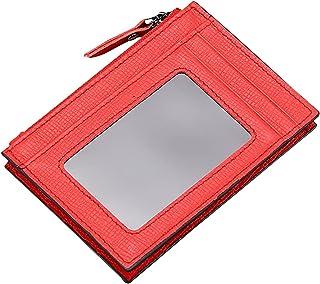 Fansport Slim Wallet Leather Portable Simple Compact Fashion Safe Credit Card Holder Wallet Money Clip Cash Coins