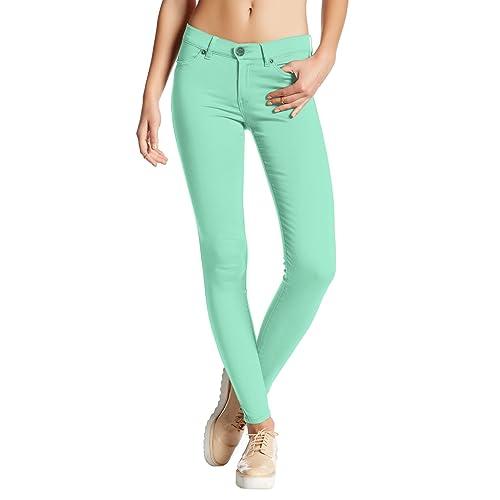 966579fa4a HyBrid & Company Womens Hyper Ultra Stretch Comfy Skinny Pants
