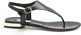 Envío y cambio gratis. DANIELE TORTORA - negro negro negro Leather Daniele Tortora Flip Flop Sandals - DT360CAPRETTO negro  hasta un 70% de descuento