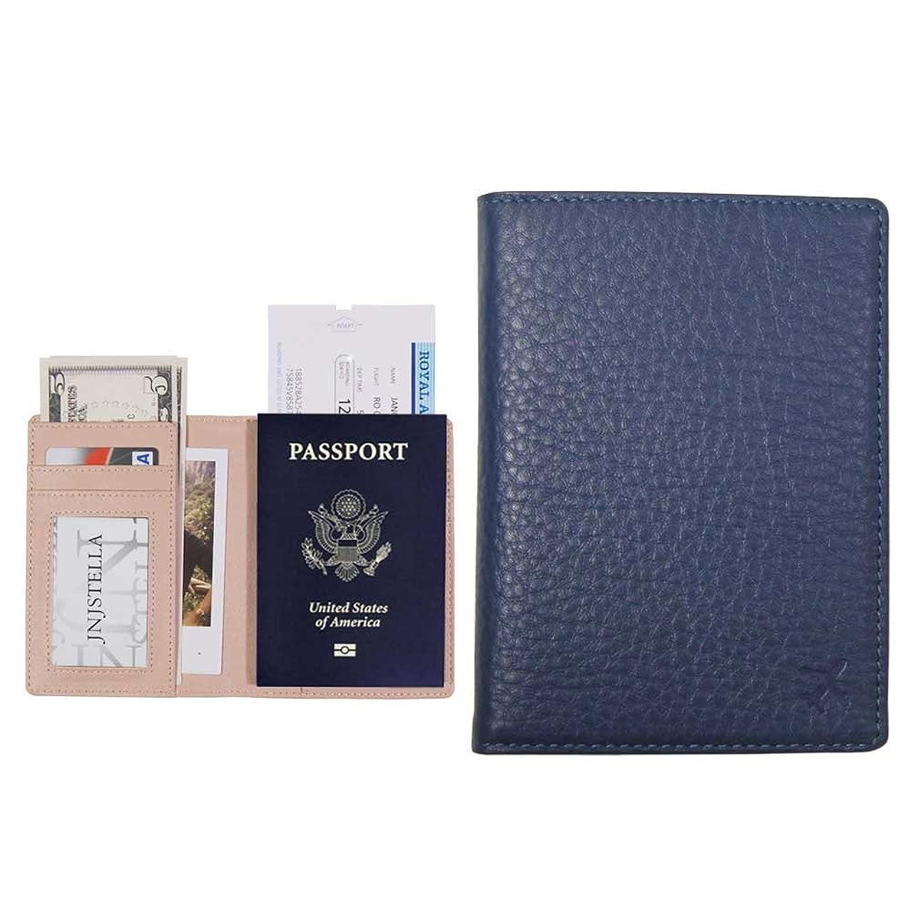 Jnjstella Genuine Leather RFID Blocking Passport Compact Case No Skimming Wallet