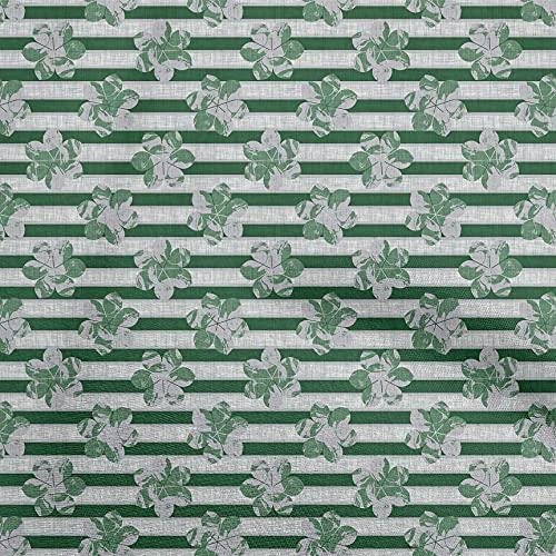 oneOone Punto De Viscosa Verde Tela Cuadra Quilting Suministros Imprimen Cosiendo Telas Por Metros 60 Pulgada De Ancho