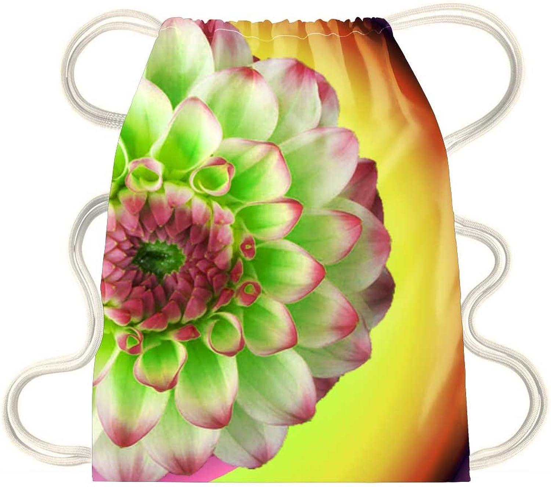 IRocket  Flower Spiral Gradient  Drawstring Backpack Sack Bag