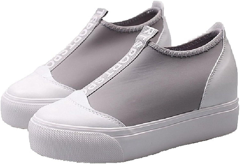 CYBLING Casual Women's Low Platform Slip On Hidden Heel Wedge Sneakers