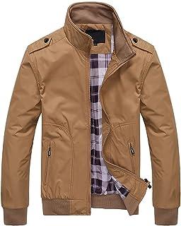 Mens Lightweight Jacket Summer Bomber Harrington Jackets Casual Stand Collar Windbreaker