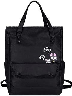 chinatera Travel Backpacks Cat Print Women Nylon Shoulder School Top-Handle Bags