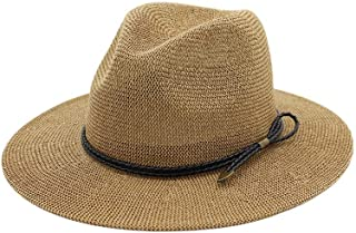 LiJuan Shen Hot Men Fashion Summer Casual Trendy Beach Sun Straw Panama Jazz Hat Cowboy Fedora hat Gangster Cap