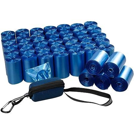 Fiaze 1400 Counts 40 Roll Dog Poop Bags Bolsas para desechos de perros con dispensador, Azul