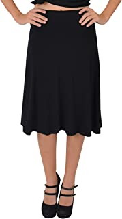 Girl's, Women's and Plus Size Knee Length Flowy Skirt