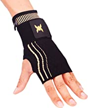 Thx4 Copper Wrist Sleeve with Adjustable Strap for Extra Support -Copper Infused Compression Wrist Brace-Relief for Carpal Tunnel, RSI, Tendonitis, Arthritis, Wrist Sprains and Fatigue-Single-L