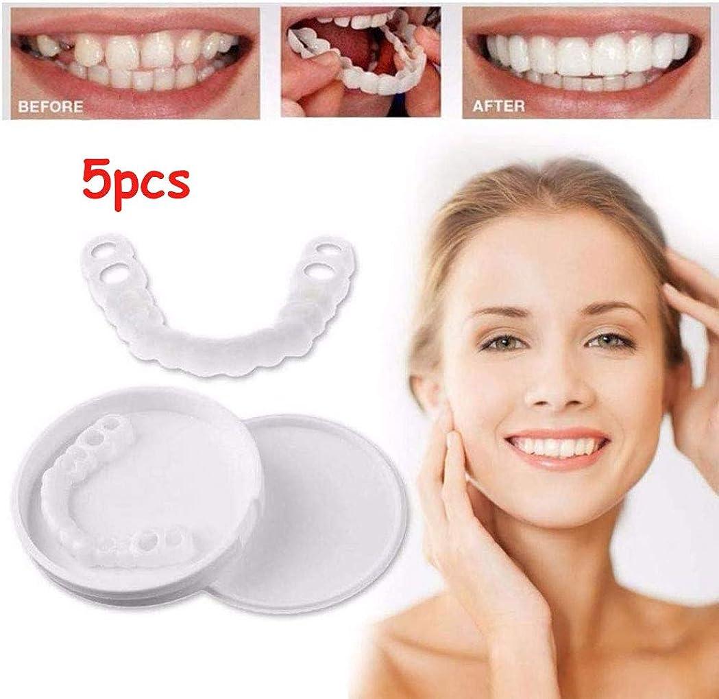 こねる欺くプーノQ&Z 1/5セットシミュレーションブレース、パーフェクトスマイルベニアダブ歯を素早く修復する実用的な歯のホワイトニングツールで完璧なスマイルベニアが得られます(トップ歯用)