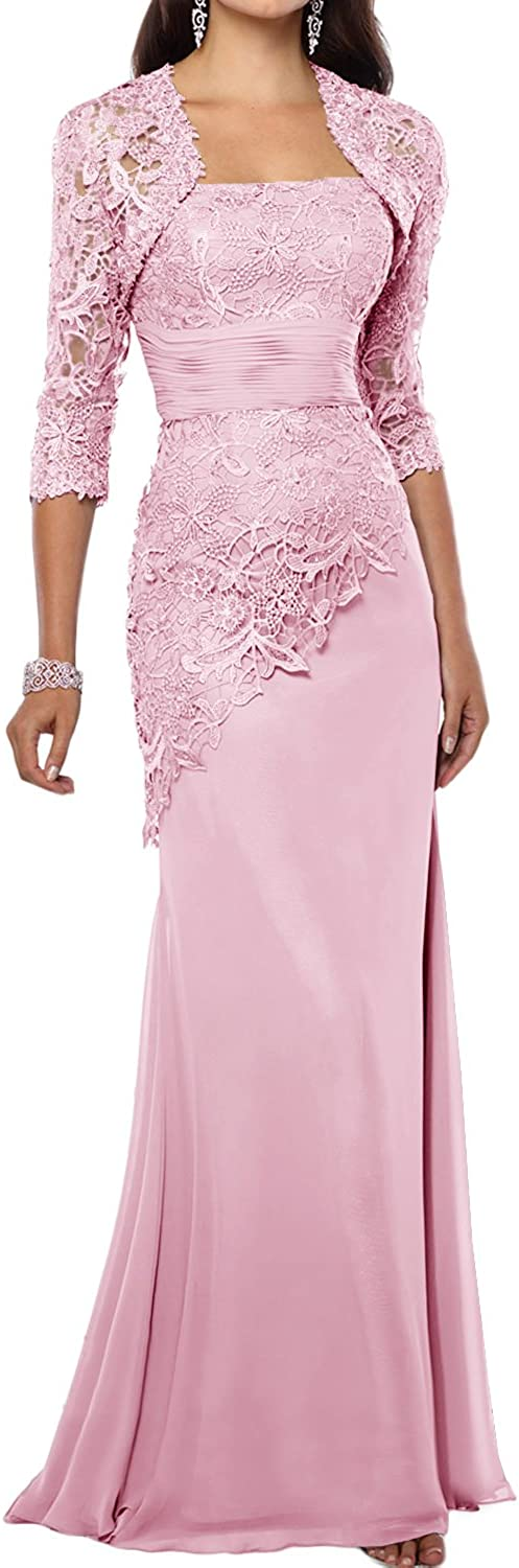 Avril Dress Strapless Mother of The Bride Dress Sheath Lace Appliques Formal Gown with Vest