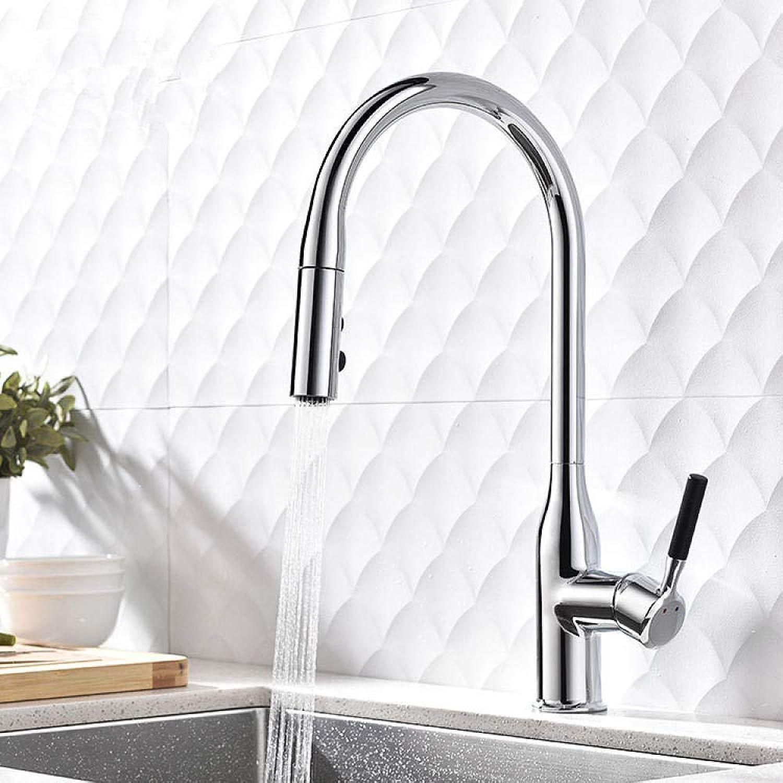 Wasserhahnküchenarmatur_Drehbar Pull Waschbecken Warm- Und Kaltwassermischer