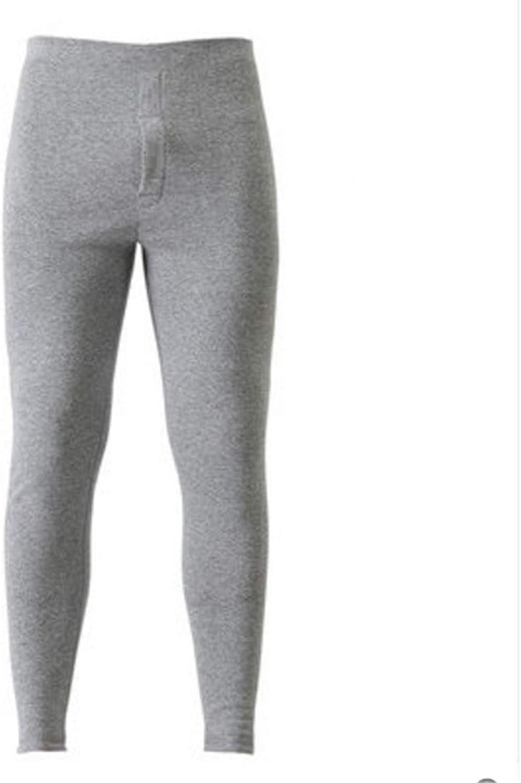 Thermal Underwear for Men Winter Long Thick Fleece Leggings wear in Cold Weather,Gray,XXL(54-64kg)