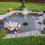 , decoración de jardín, riego de Fuente Solar Energía Bomba Solar Piscina Estanque Cascada Sumergible Panel Solar Flotante Fuente de Agua