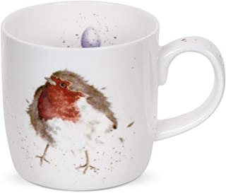 Royal Worcester Wrendale Designs Mug - Garden Friend Robin, 11 oz