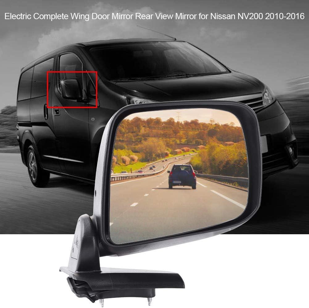Kimiss Elektrischer Rückspiegel Linksseitiger Elektrischer Kompletter Außentürrückspiegel Für Nv200 2010 2016 Auto