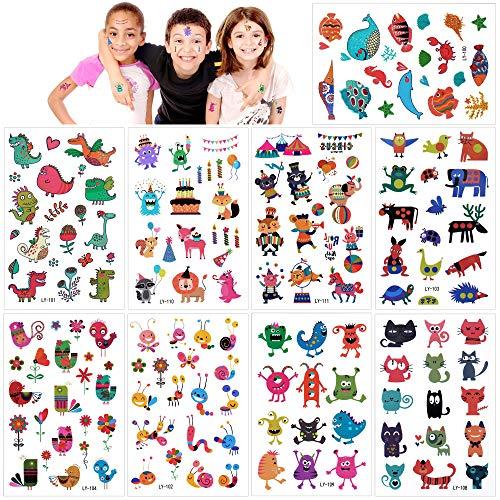 Konsait Monster Tattoos Set, temporäre Kinder Tattoos Aufkleber für Kinder Spielen Mitgebsel Kindergeburtstag geschenktüten (160 Tattoos) üten (160 Tattoos)