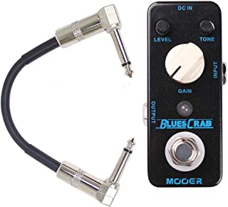 Mooer Blues Crab Blues Overdrive Guitar Effect Pedal w/Patch Cable