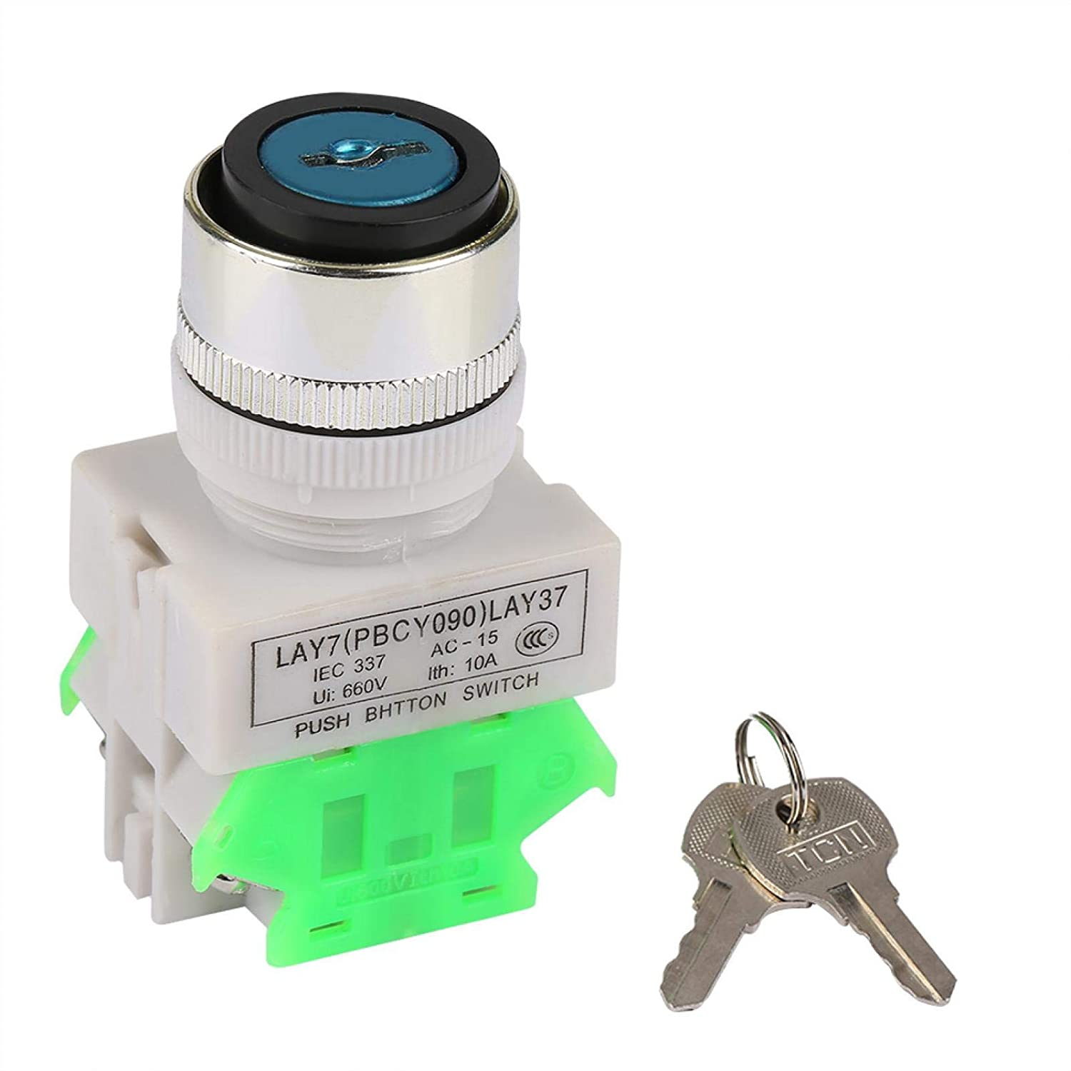 22mm Key Operated Popular brand in the world Switch San Francisco Mall Position 3 Rotary