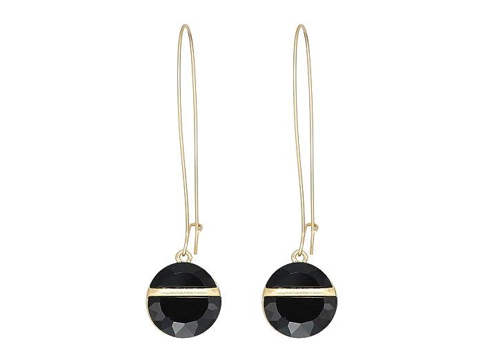 UPC 889295362549 product image for Robert Lee Morris Stone Shepherd's Hook Earrings (Black) Earring | upcitemdb.com