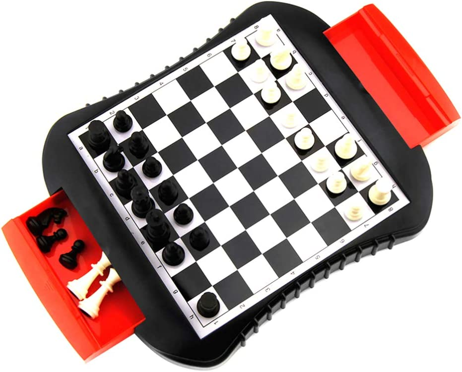 1 year warranty Free shipping / New NUOBESTY Magnetic Chess Set Game Strategy Checker Le