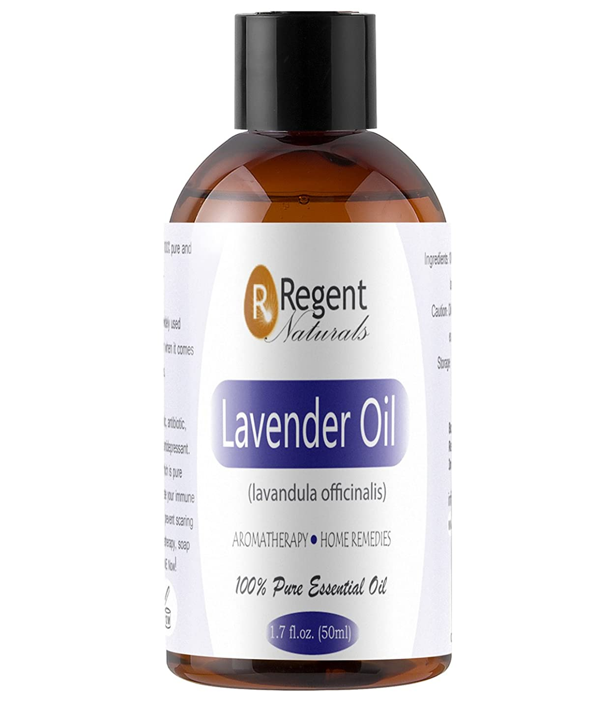 Regent Naturals 100% Pure Lavender Oil Organic Undiluted, Therapeutic Grade with dropper For Aromatherapy, Skin, Hair growth & Spray pillow. 100% Money Back Guarantee.