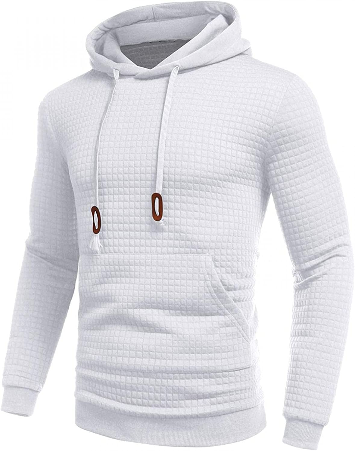 Aayomet Pullover Hoodies for Men Plaid Solid Long Sleeve Hooded Sweatshirts Casual Workout Sport Sweaters Blouses Tops