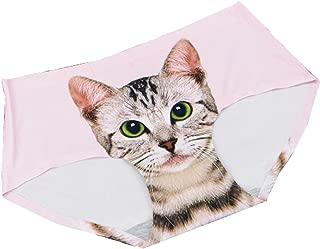 BUZZxSELECTION(バズ セレクション) シームレス 無縫製 下着 ショーツ パンツ 猫 かわいい インナー レディース TV016