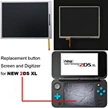 Button Screen and Digitizer for New 2DS XL, YTTL Replacement Parts Accessories Lower Screen LCD Display and Touch Screen for New Nintendo 2DS XL/ LL System Games Console