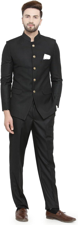 Black Bandh Gala Classic Royal Menâ s Designer Suit