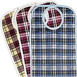 Medokare Adult Bibs - Washable Reusable Bibs for Seniors (3 Pack, Multicolor)