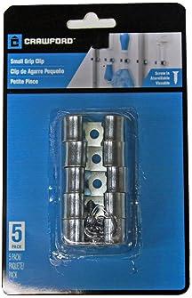 Lehigh 13200 Grip Clip Organizer, Silver, Small 5-Pack