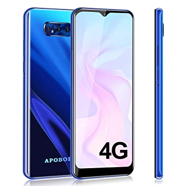 Apobob S10 Unlocked 4G Smartphones, 6.26 inch HD Cell Phones, Android 9.0 Phone, Dual SIM(AT&T/T-Mobile) Smartphone, Quad Rear Camera Phones, 32GB+3GB RAM Mobile Phone, with 2650 mAh Battery (Blue)