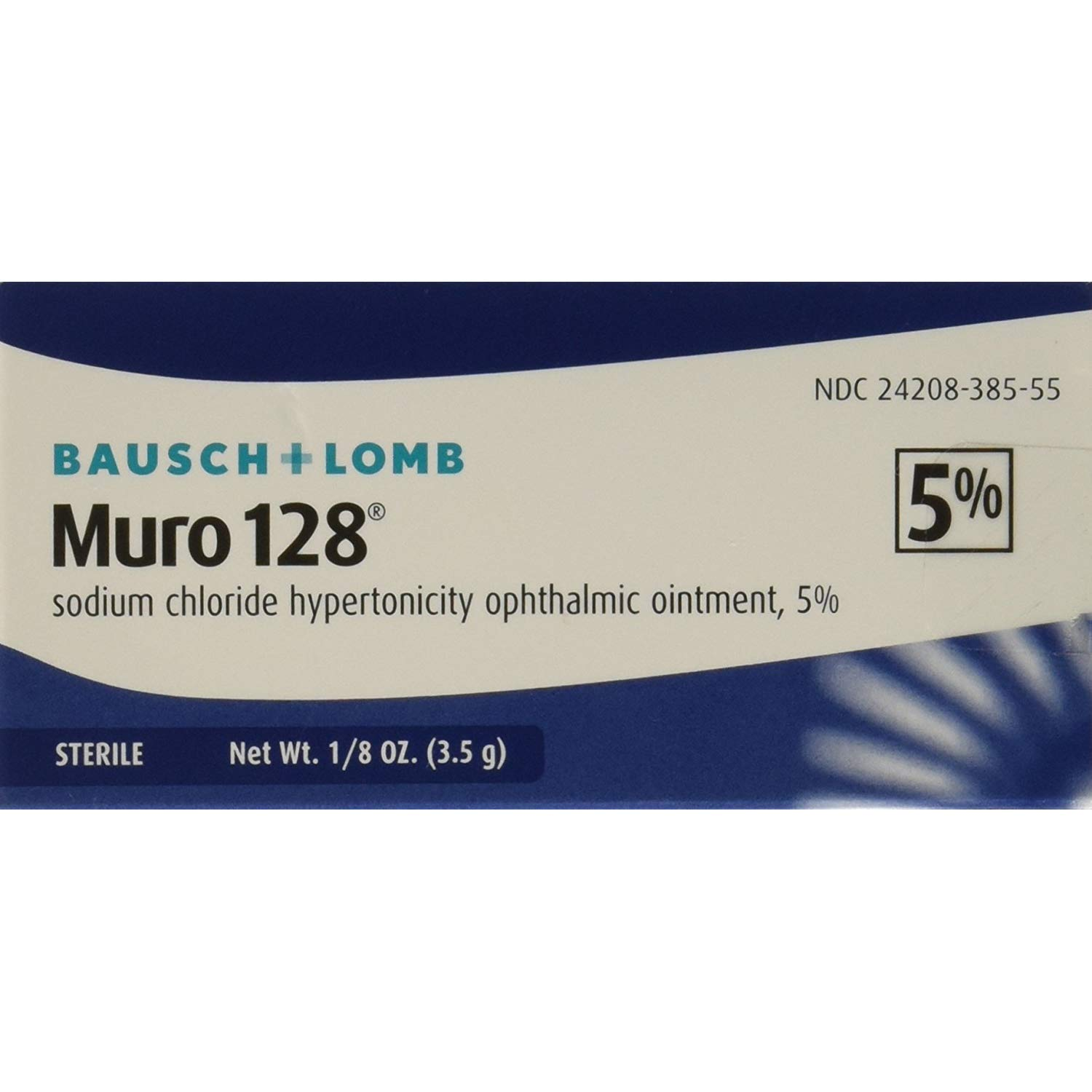 Muro 128 5 New sales Percent Sterile Opthalmic Cheap mail order shopping Ointment 3.5 g oz .12