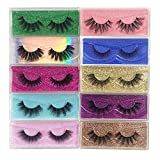 False Eyelashes Mikiwi 10 Pack Lahes, 12-20mm Wholesale 5D Fake Mink lashes, Fuffy Natural Volume eye Lashes, individual package Faux Mink EyeLashes